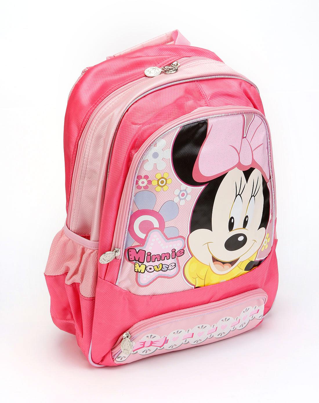 迪士尼文具专场-女童粉色儿童书包-软式(粉)