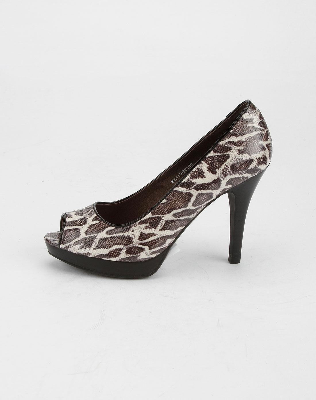 女款黑色时尚超高跟鞋