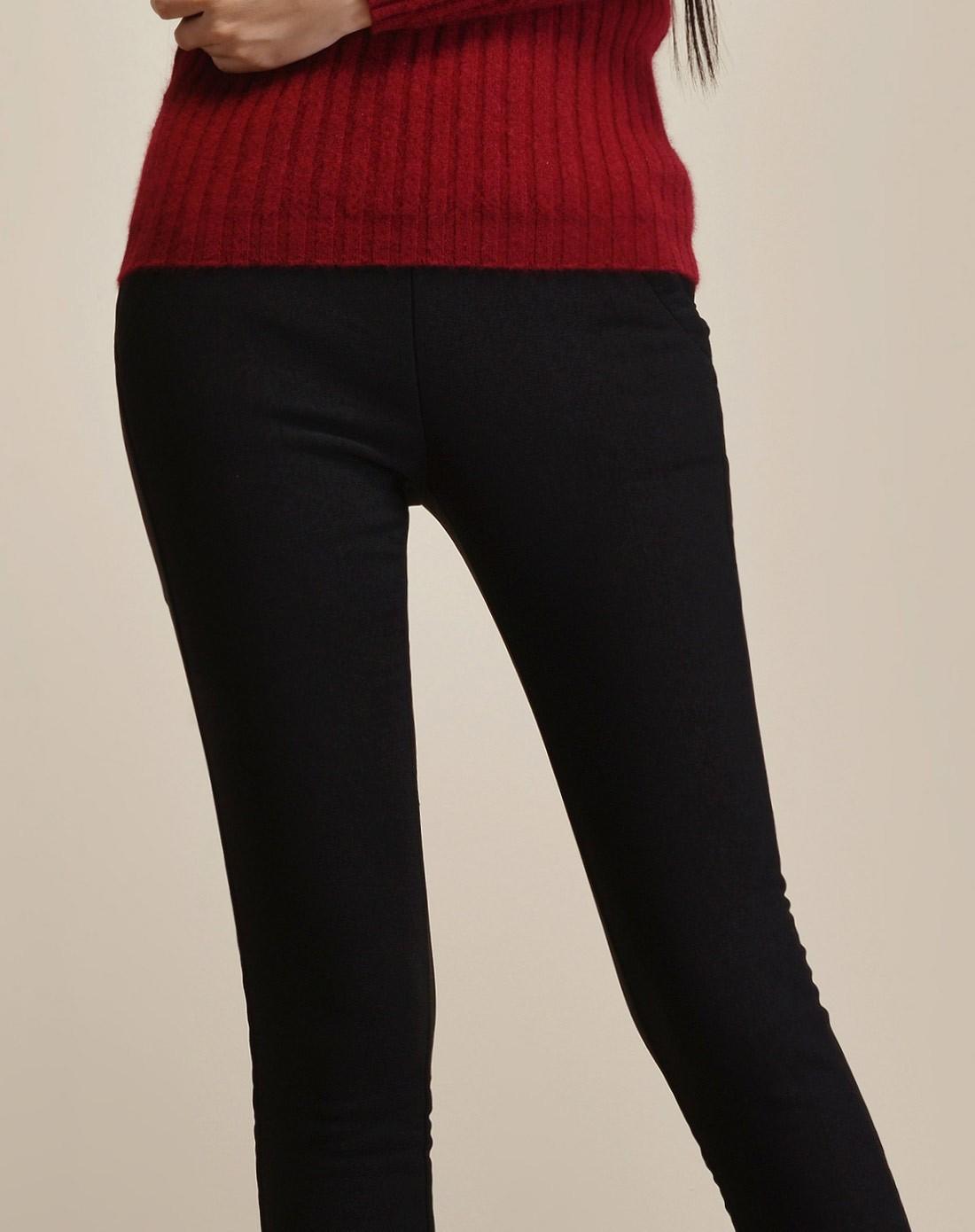 黑色加绒加厚打底裤