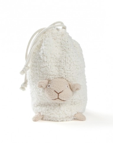 可爱小绵羊头巾帽子制作法