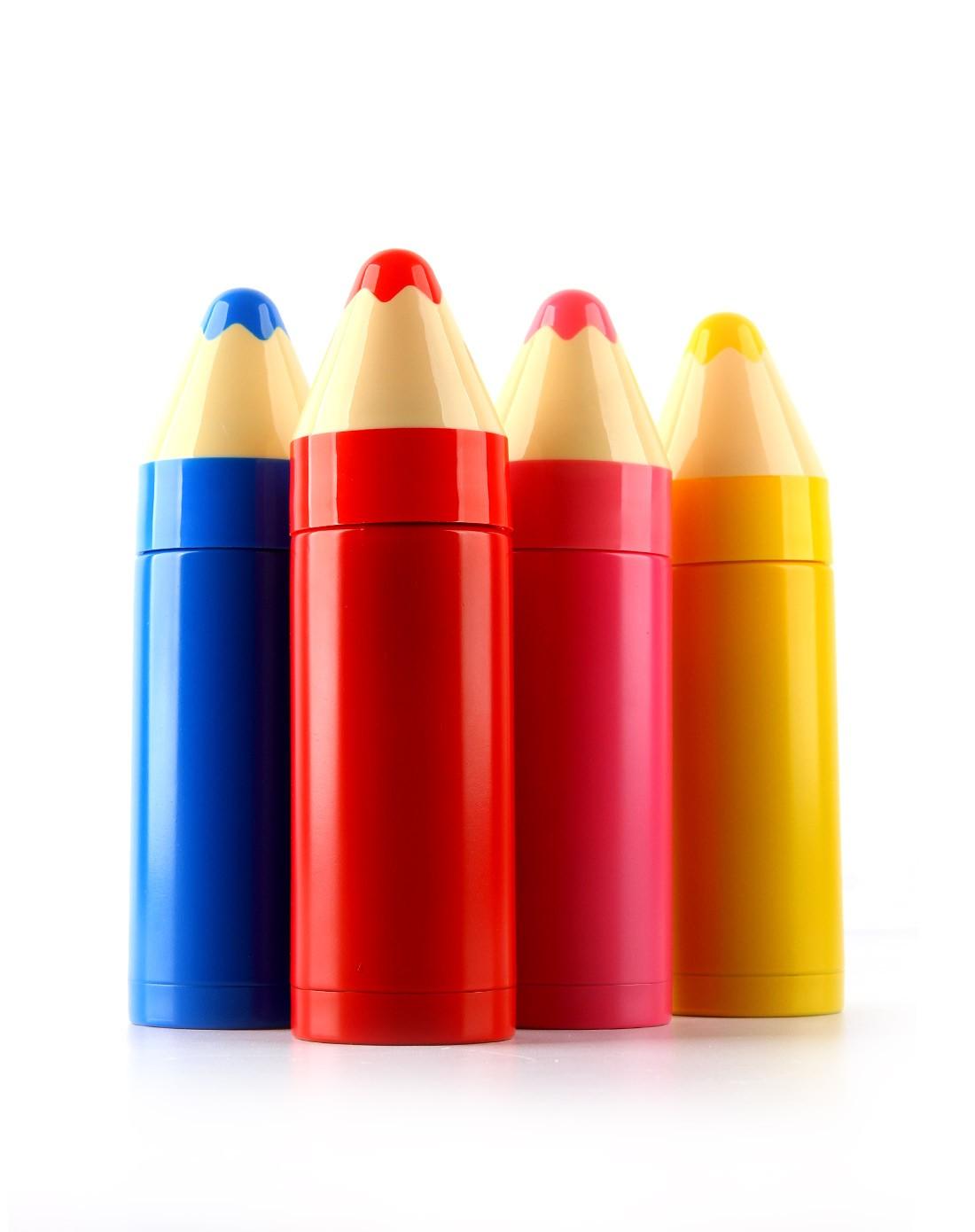 趣玩创意(黄色)可爱铅笔造型保温杯45830
