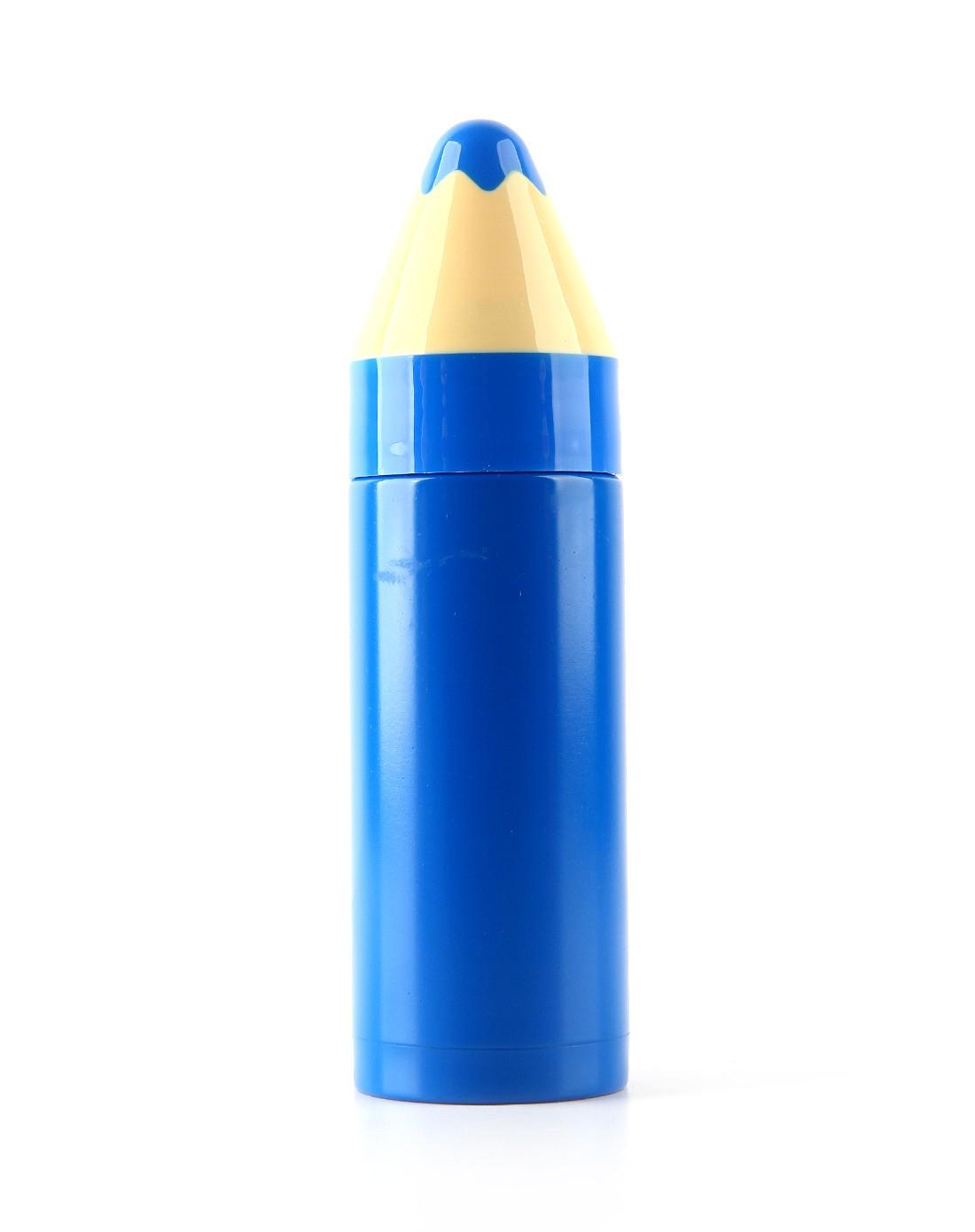 (蓝色)可爱铅笔造型保温杯