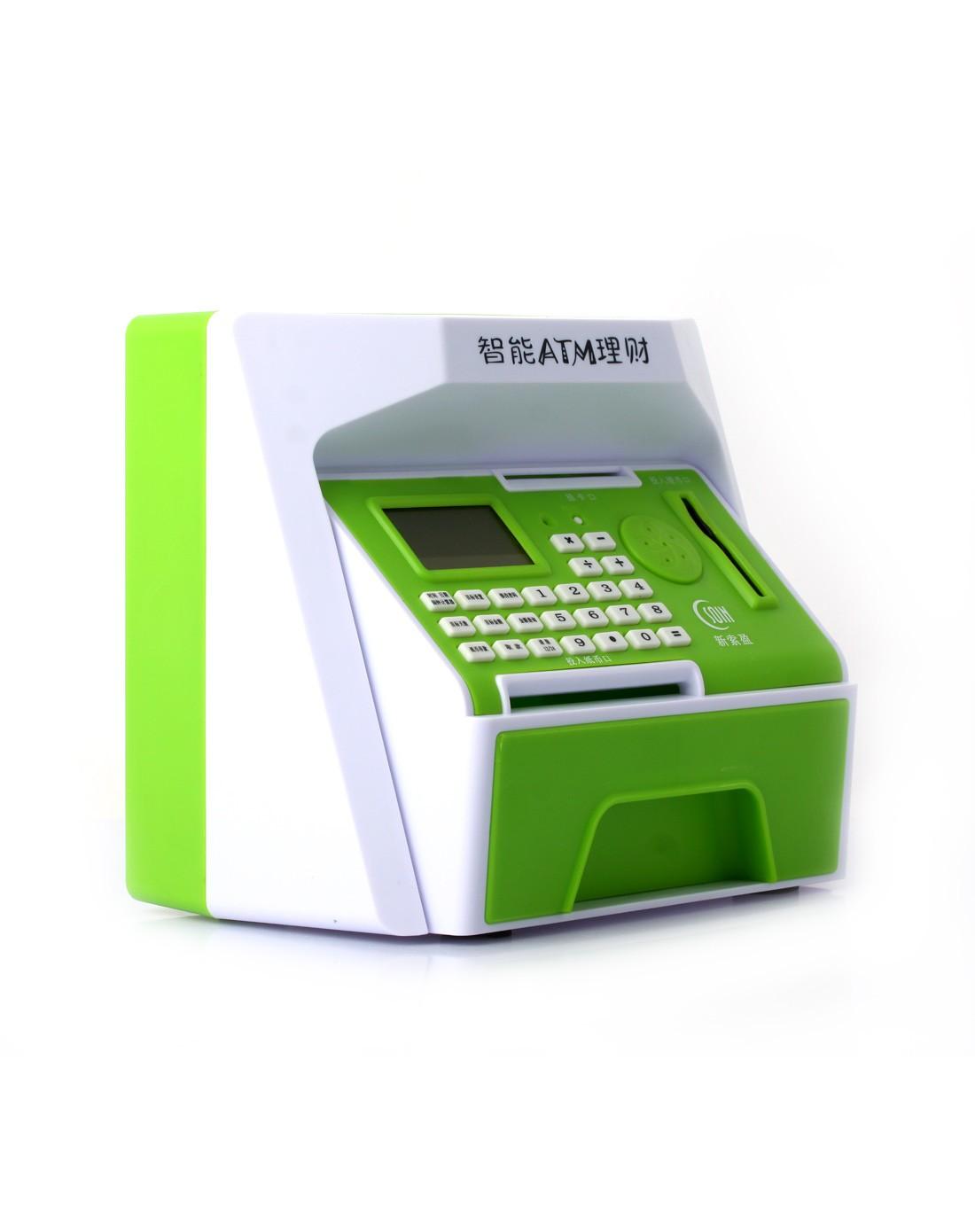 (绿色)创意可爱大号智能atm理财机