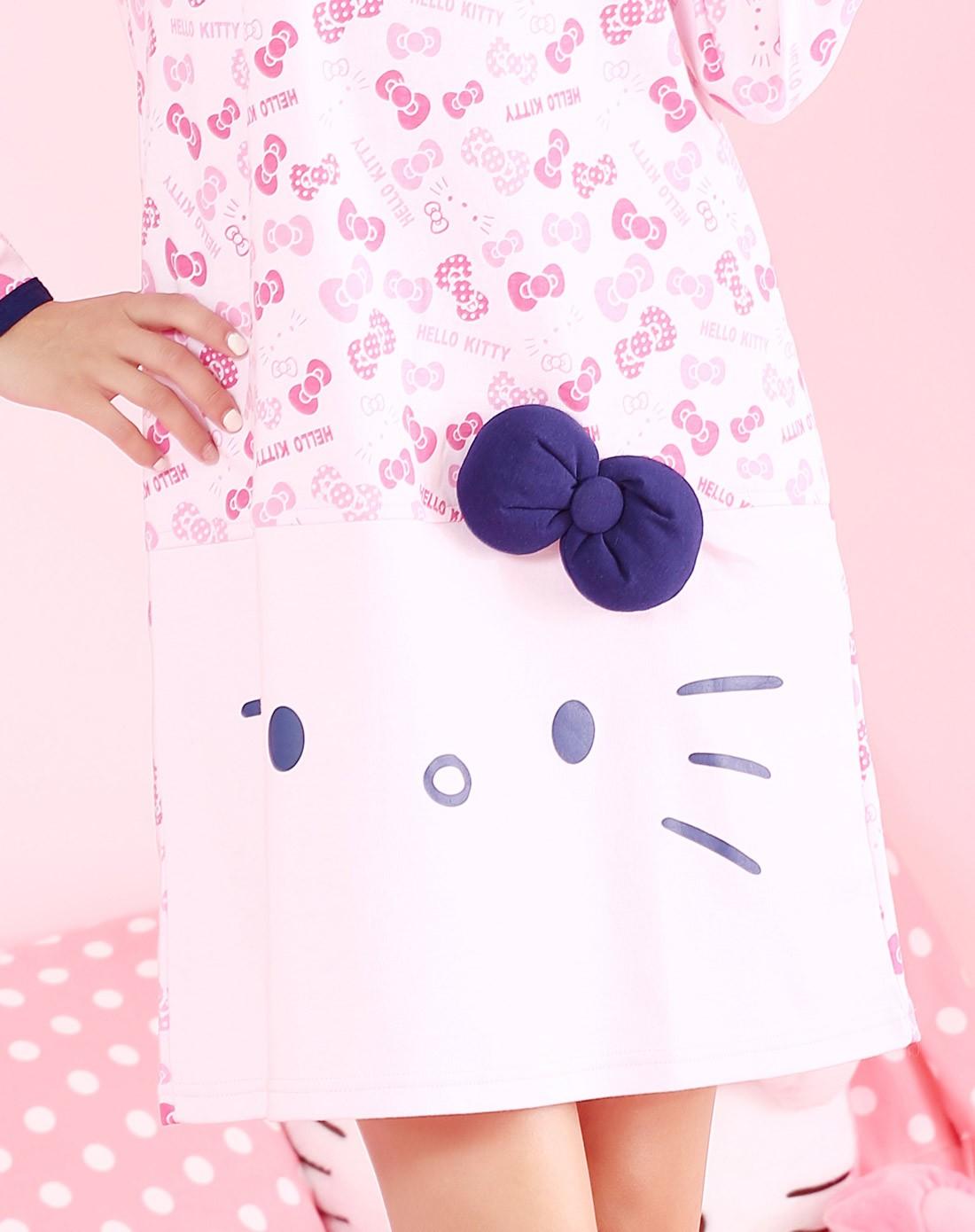 hello kitty浅粉a字型萝莉小公主睡裙