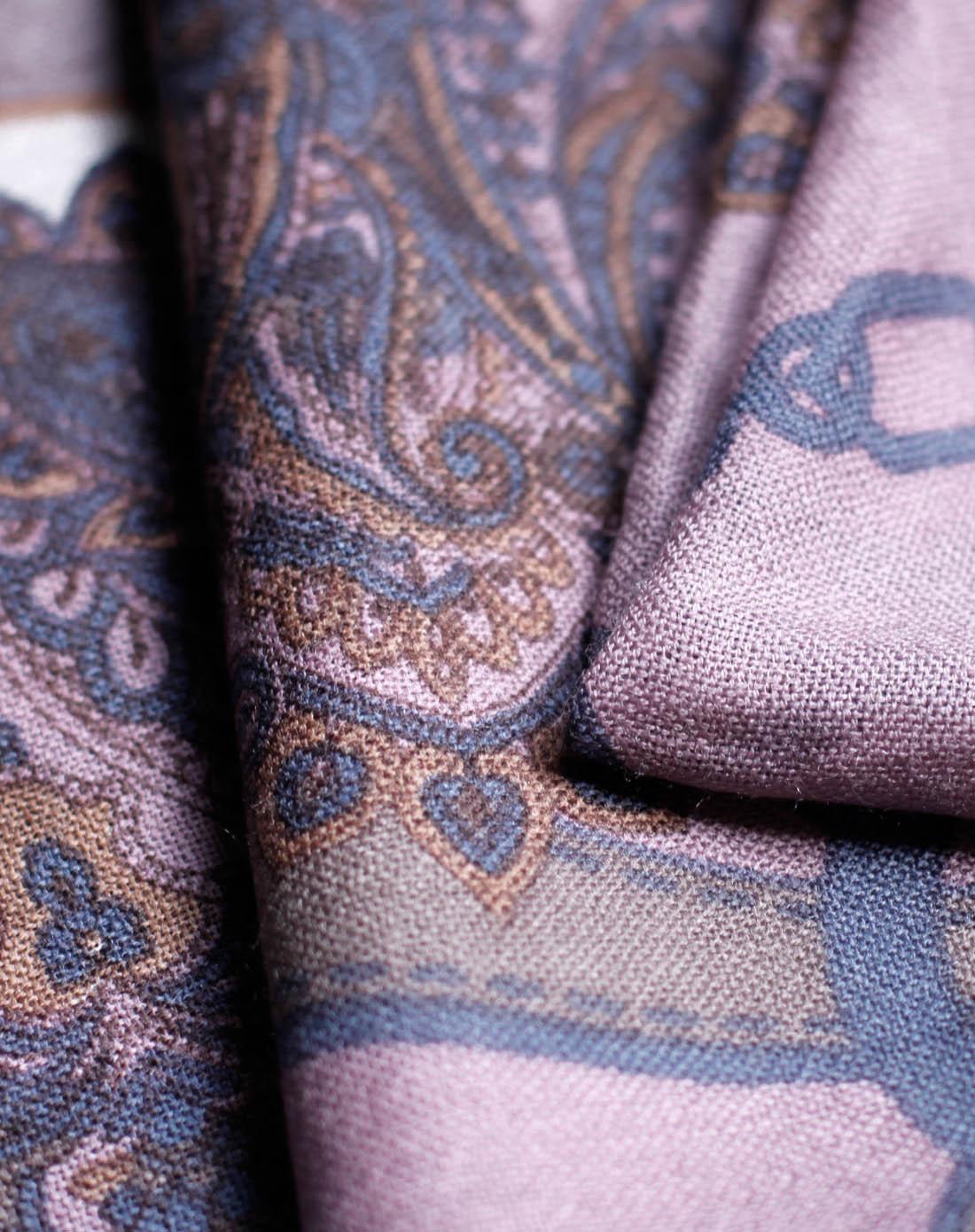 睡莲紫春天华尔兹羊毛披肩