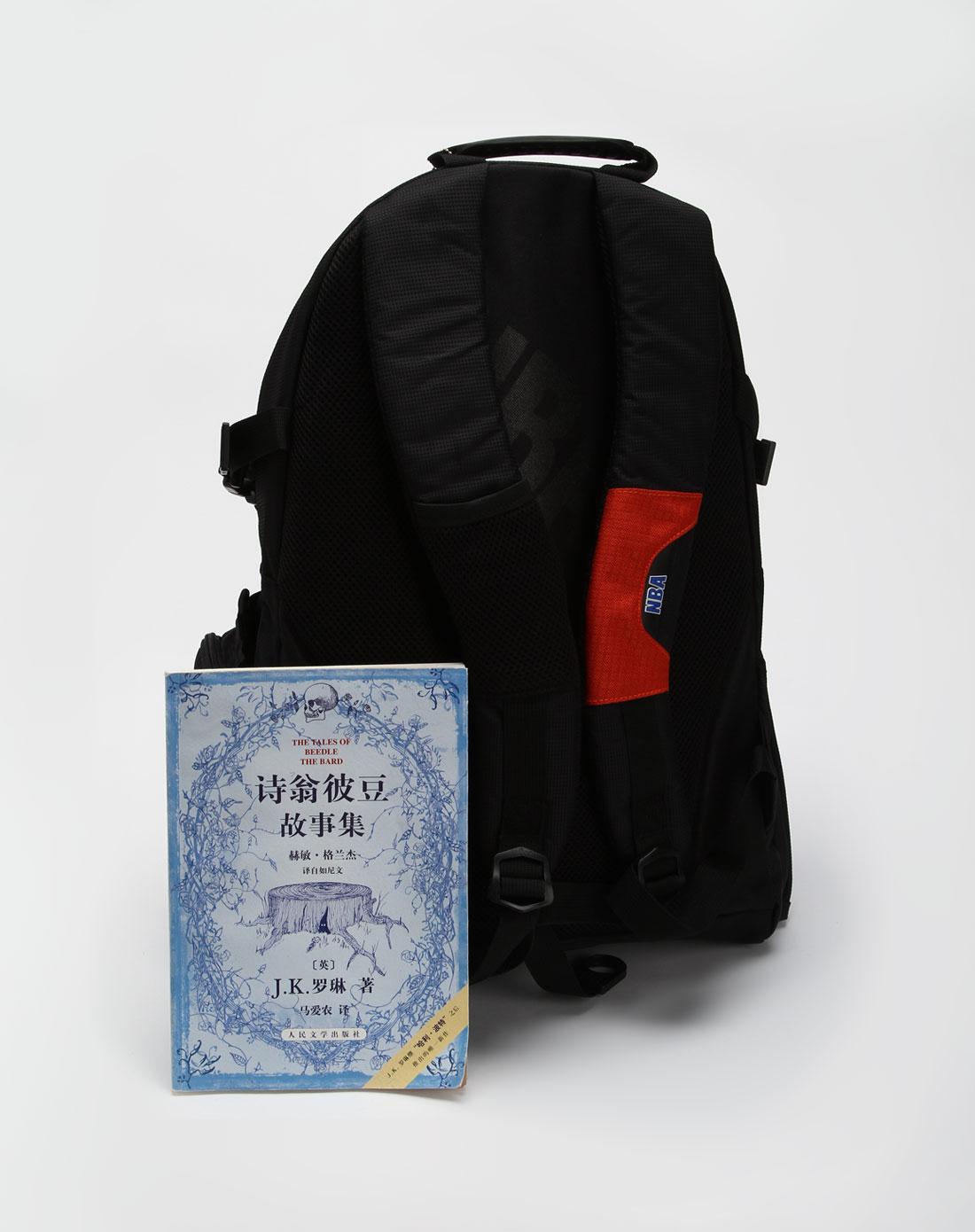 中性黑/橙色森林狼炫酷系列背包