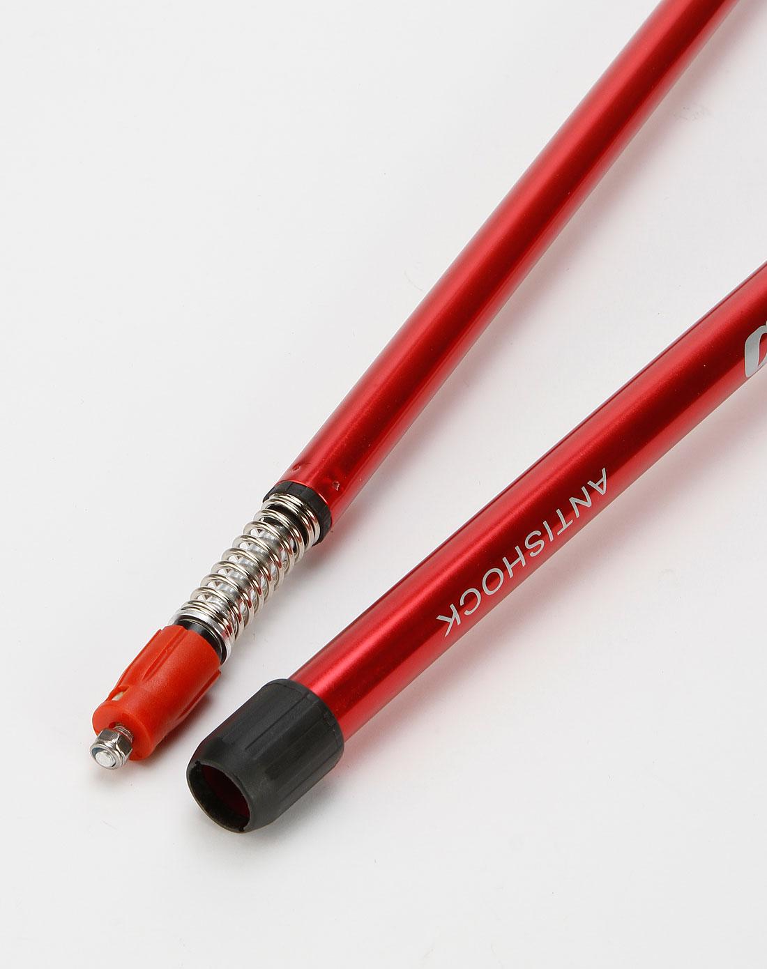 中性红色时尚可伸缩登山手杖