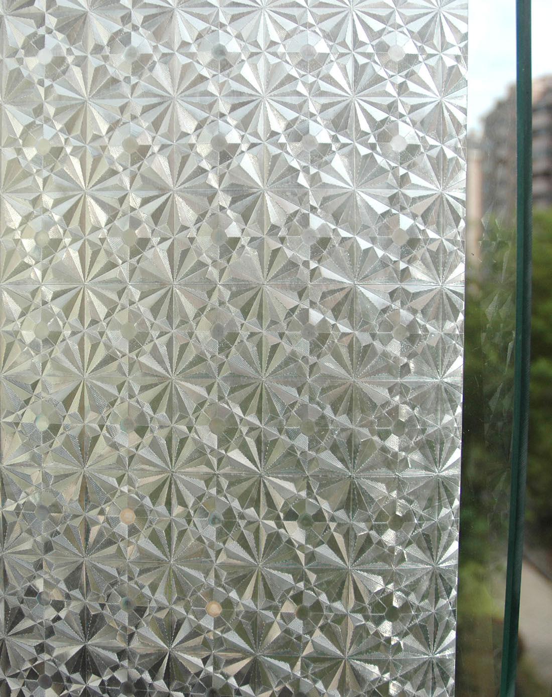 静电玻璃贴膜钻石花纹2m/卷