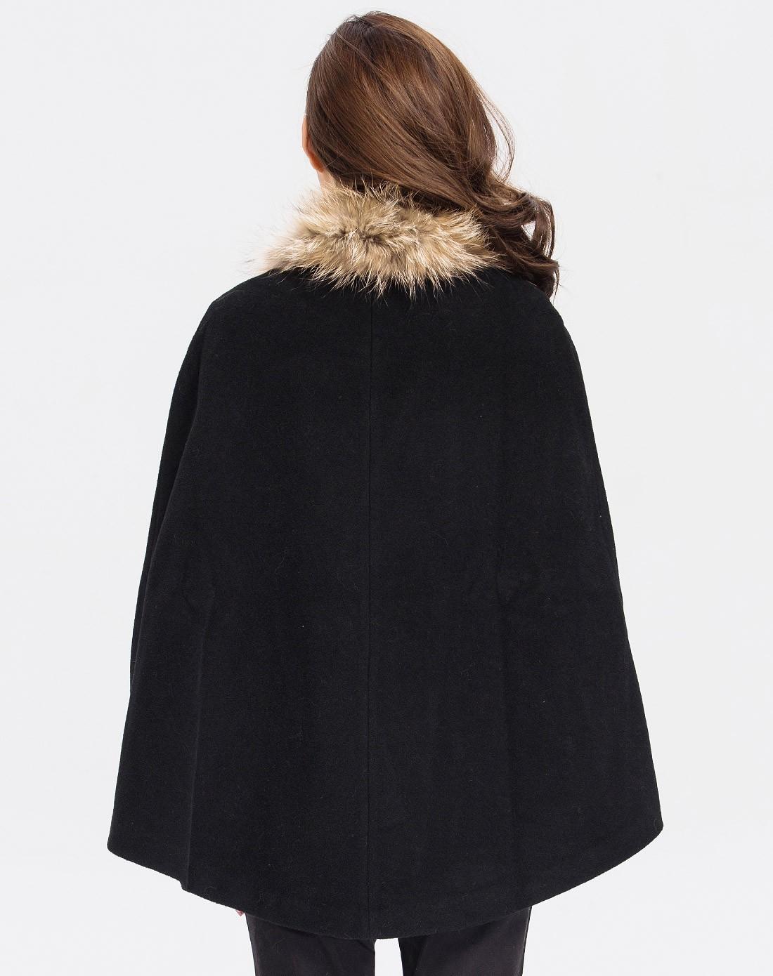 欧美大牌时尚毛呢斗篷大衣
