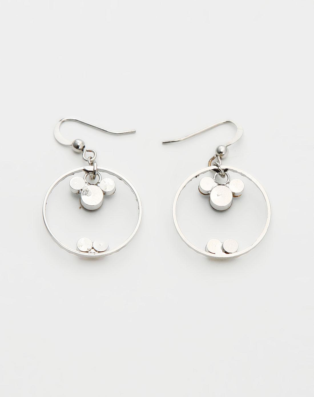 威妮华viennois-银色圆环吊坠耳环