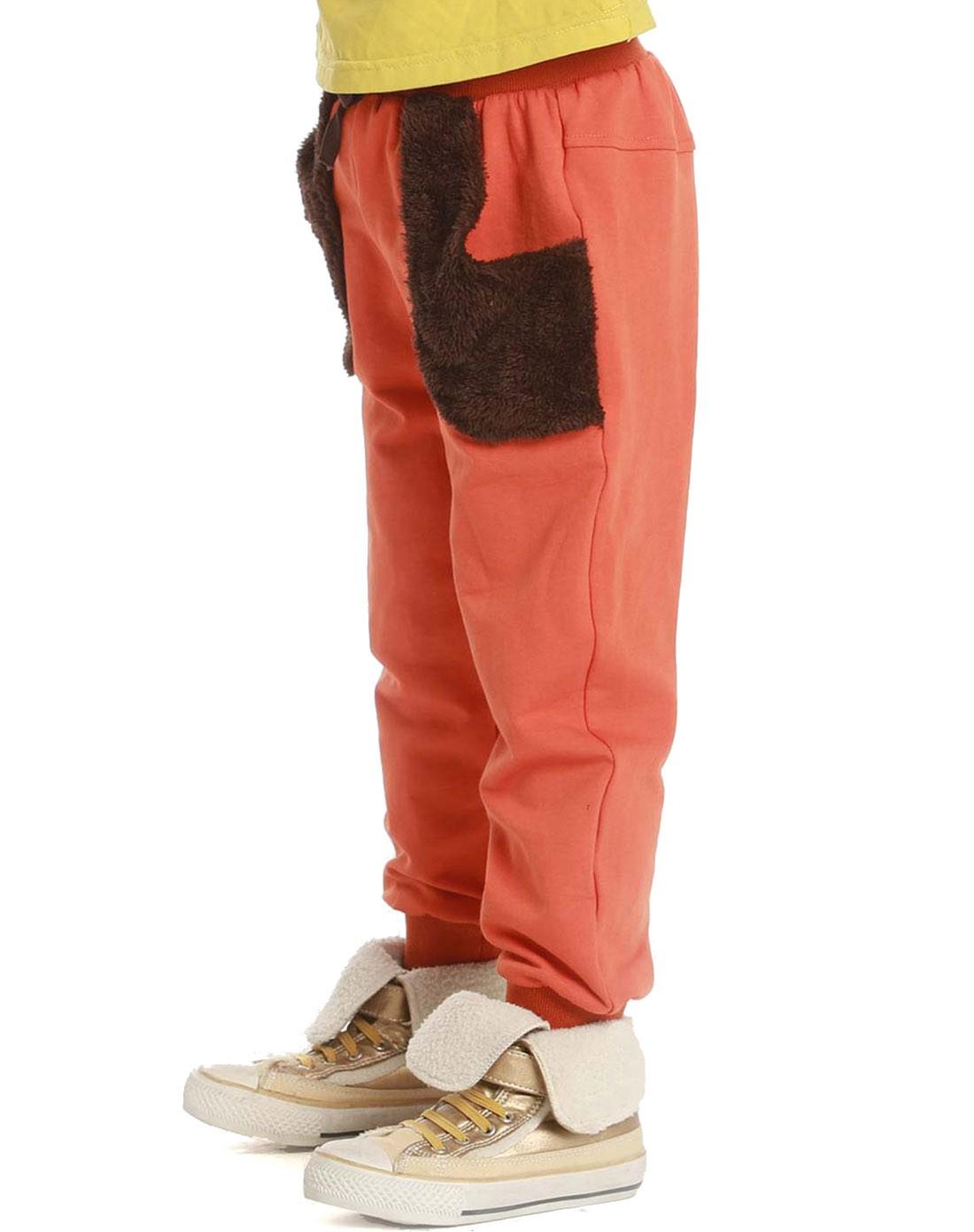 latin男女童女童桔色裤子235798916