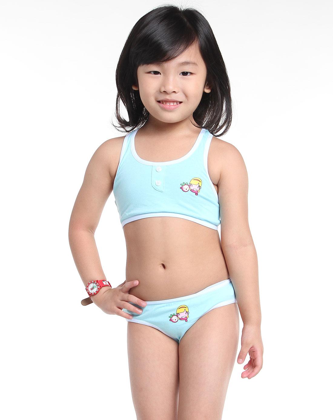 刚发育初中小女孩12岁-女童内衣 大女童内衣背心图片