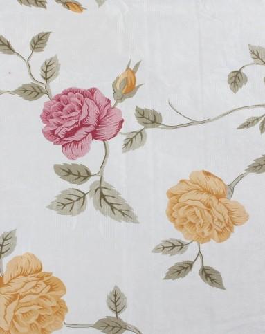蕾丝花边红黄玫瑰长方形台布149*225cm