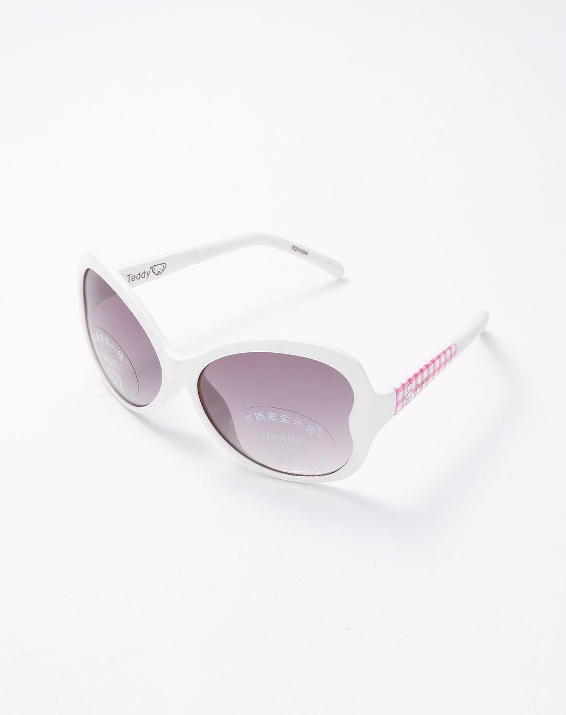 白/粉红色时尚儿童太阳镜