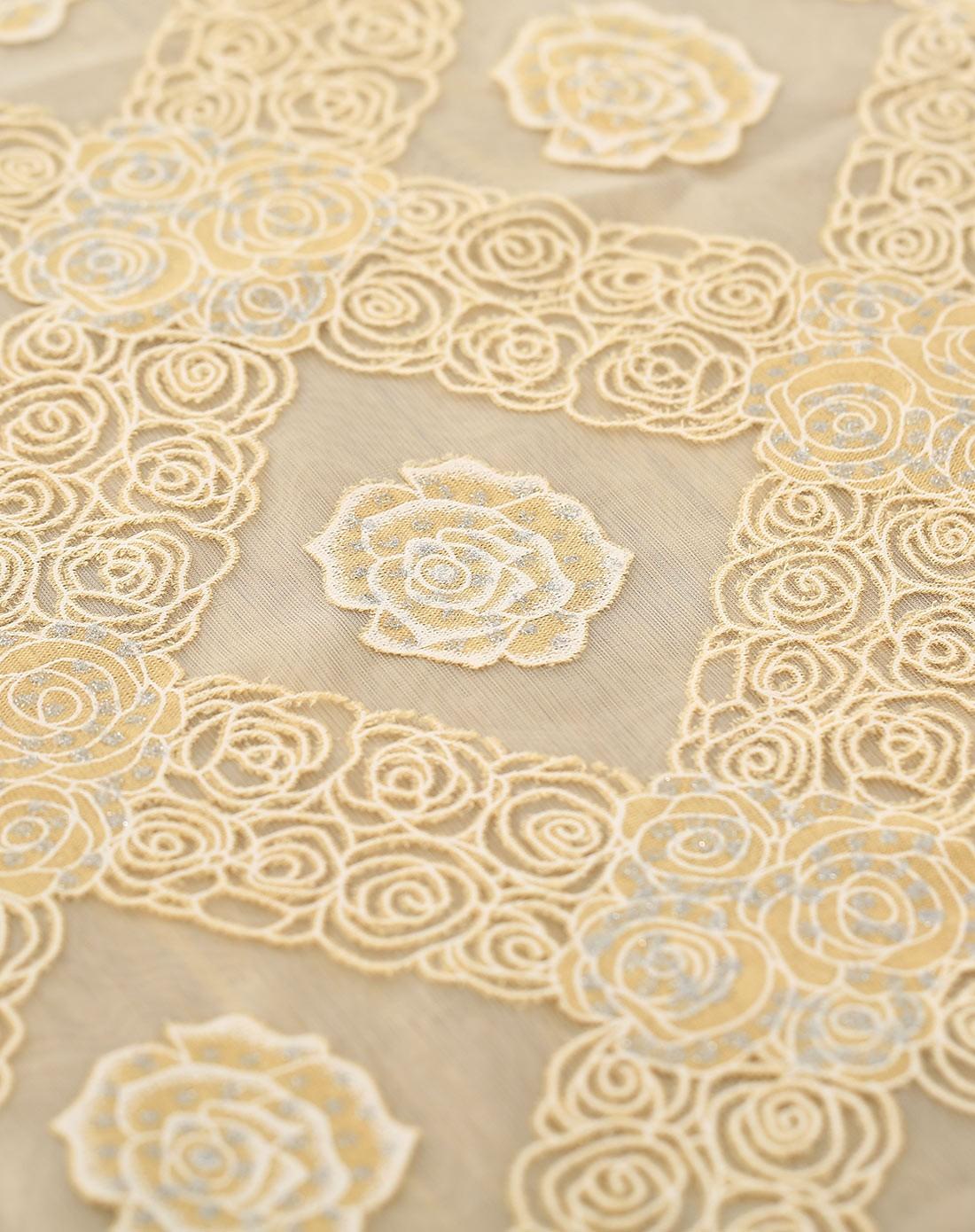 色水晶玫瑰印花桌布