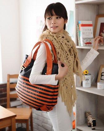 橙色韩版可爱时尚型肩背女包