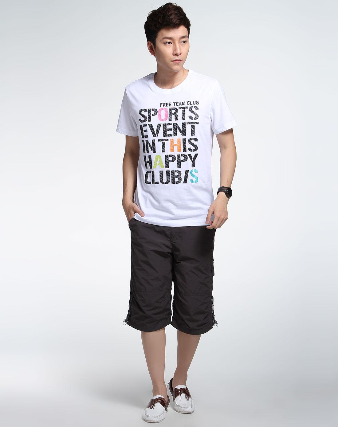白色秀炫短袖t恤