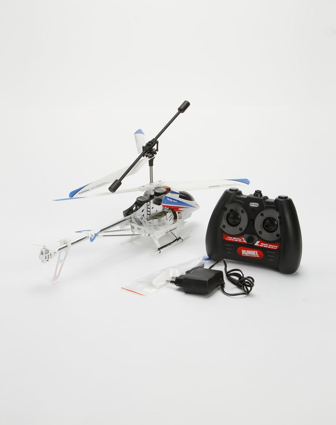 遥控玩具专场蓝/白/黑/红色遥控直升飞机16010087