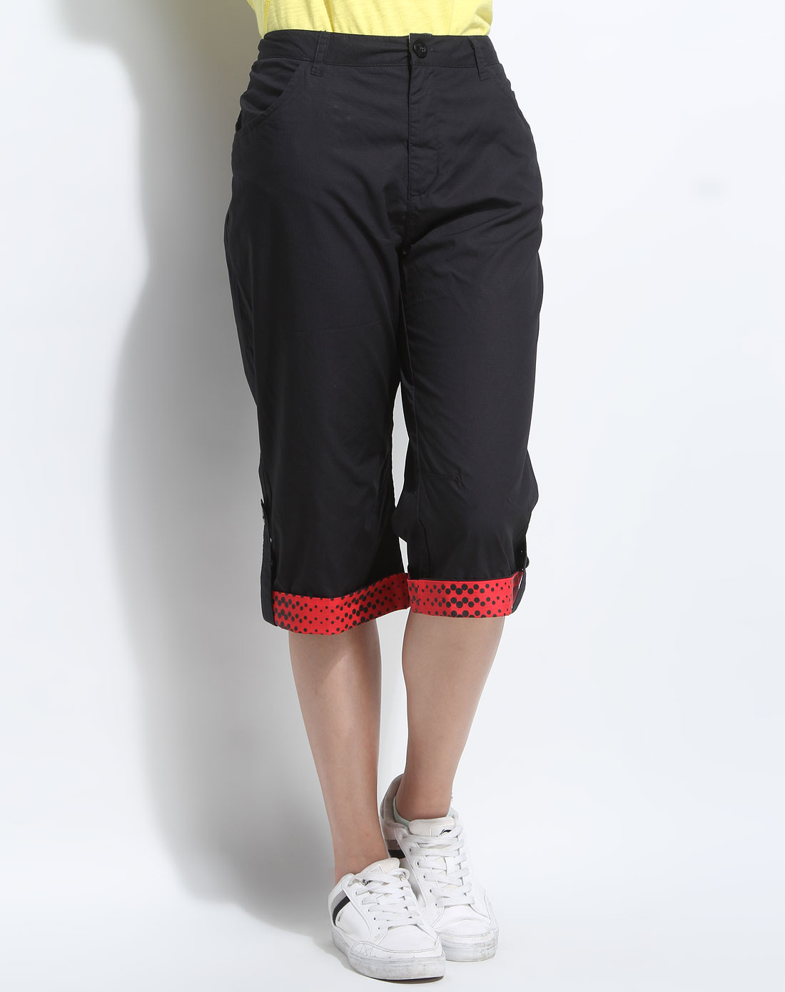 安踏anta女装专场-女款黑色时尚七分裤