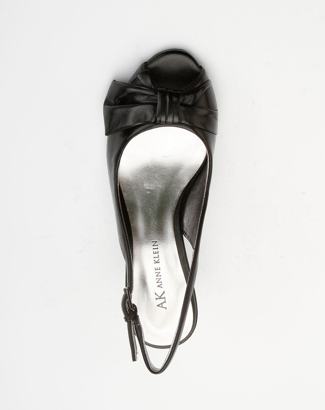 女款黑色时尚蝴蝶结高跟鞋