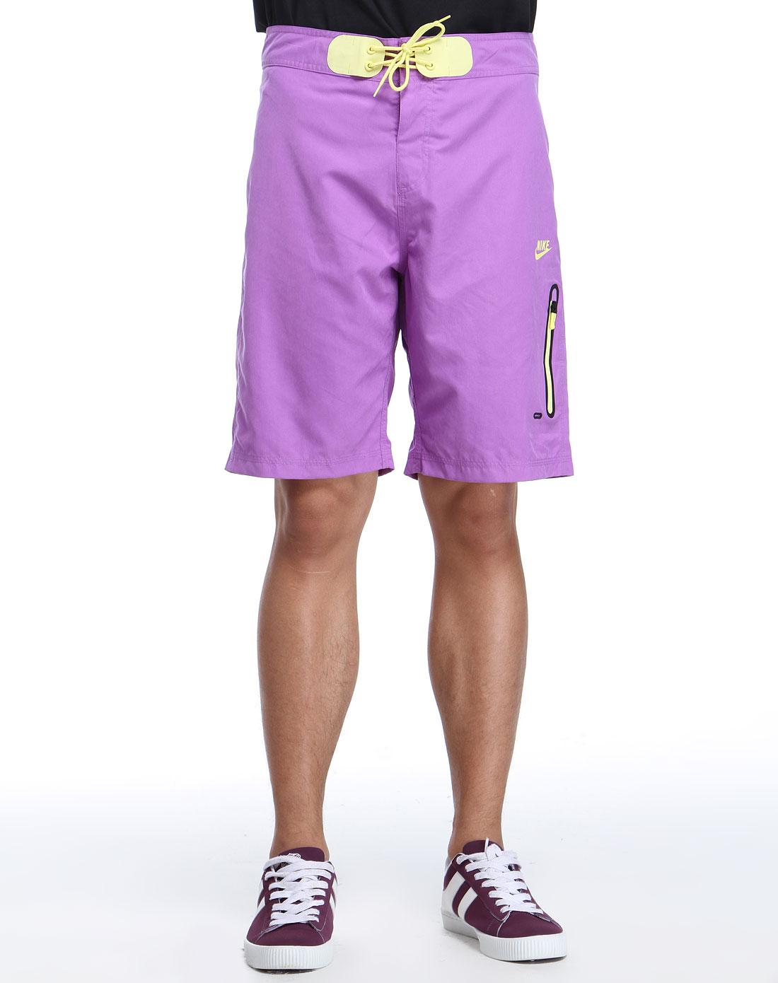 耐克nike男款紫色系带休闲短裤417509-568