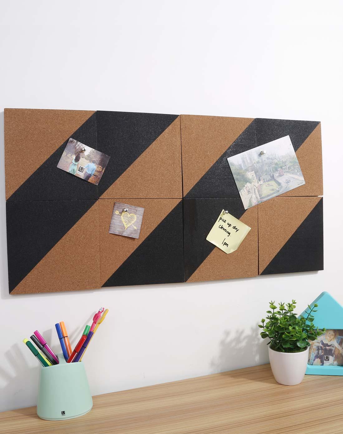 umbra创意家居用品专场图标形软木板公告牌 黑色035