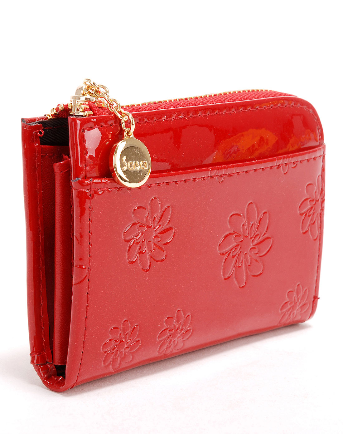 sasa箱包专场-红色时尚零钱包