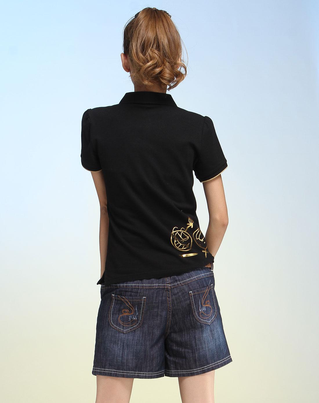 黑色经典简约短袖t恤