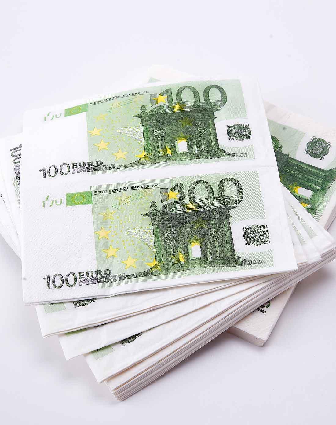 > 100欧元正方形双层餐巾纸(2包装)图片