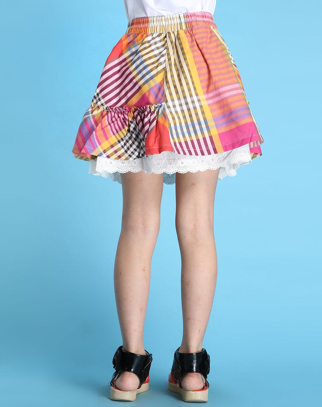 女童彩色时尚短裙