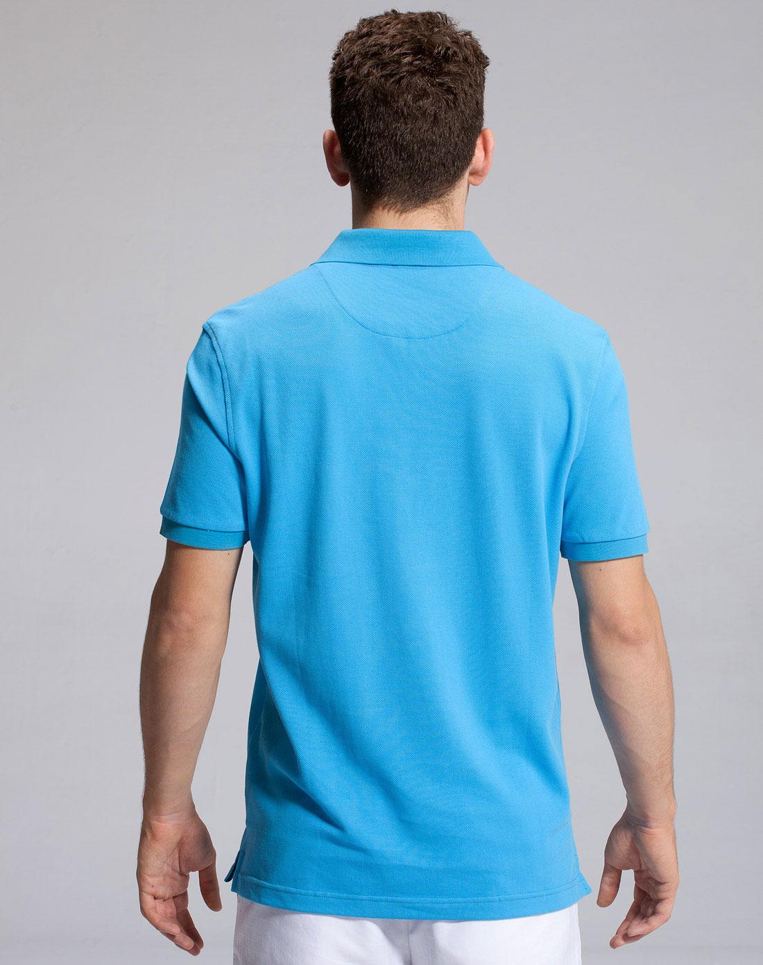 �t_粉蓝色休闲短袖t恤(专供新品)