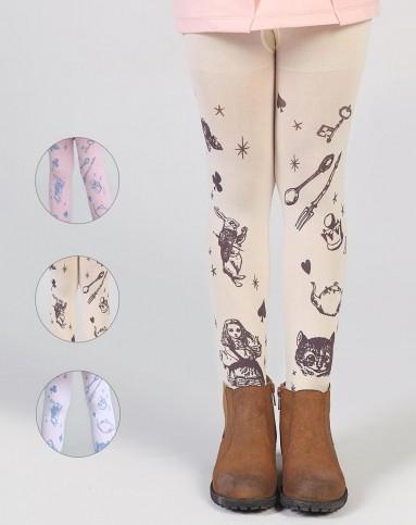 女童混色小女孩3条装连裤袜