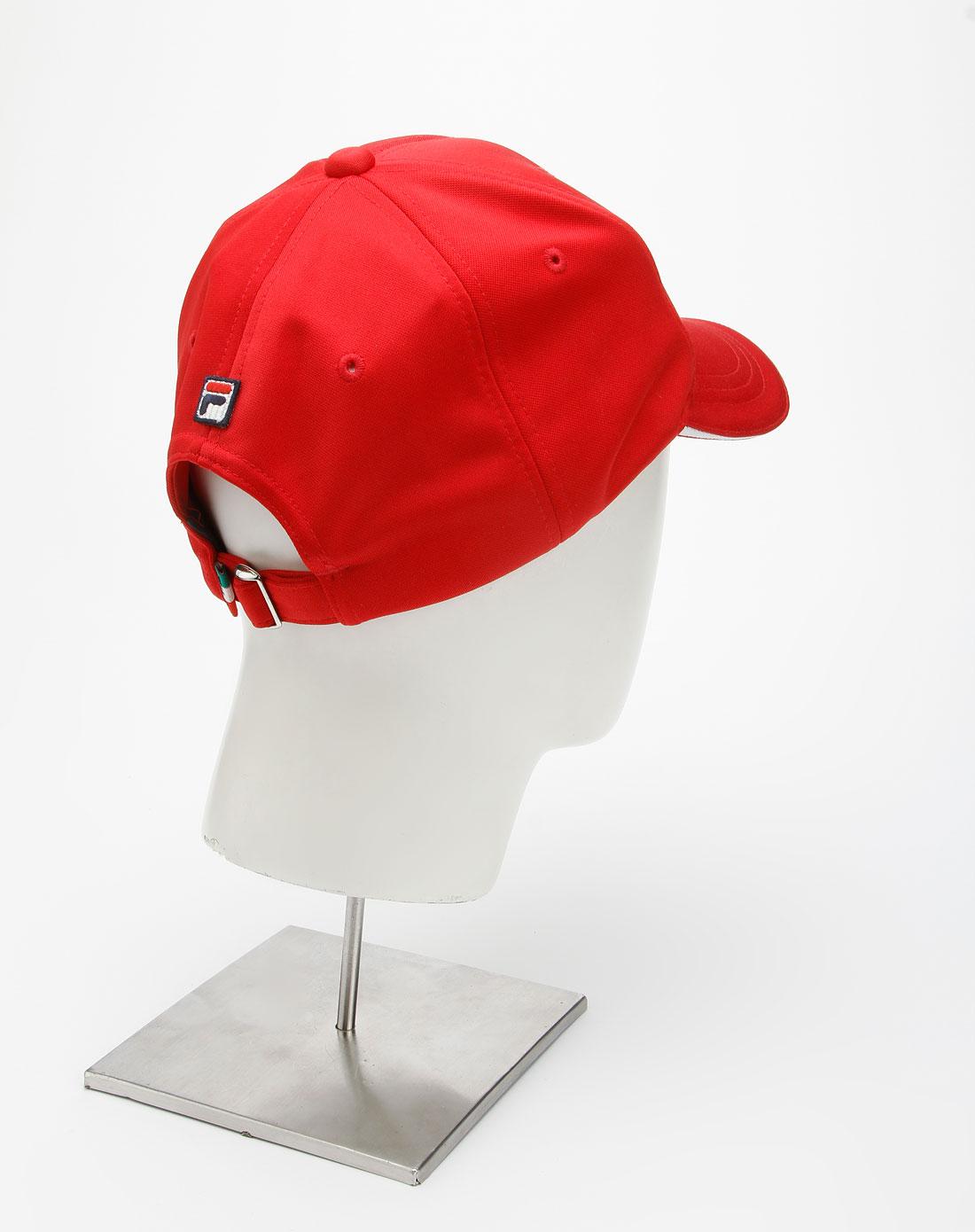 中性红/蓝色时尚网球帽