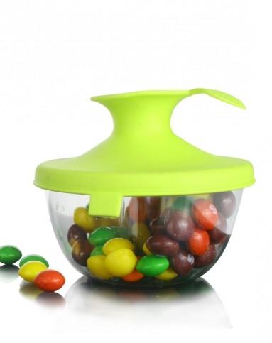 趣味创意家居专场-瓯粟oasso 苹果型食品密封罐(绿色)图片
