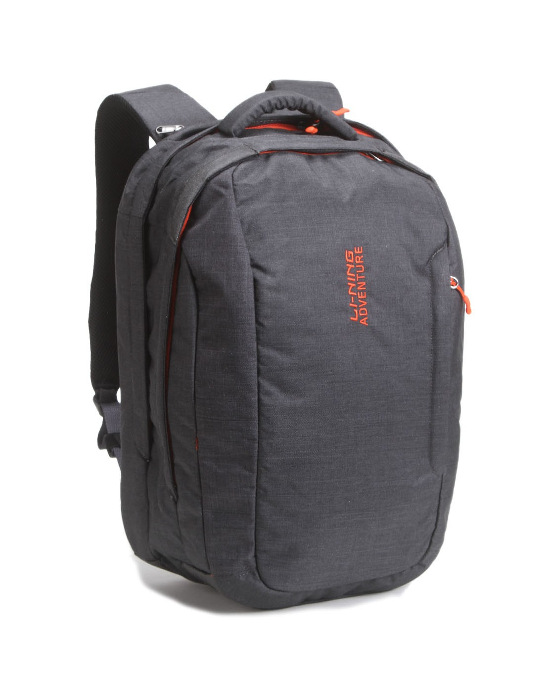 中性款黑灰色双肩背包 实用轻便舒适图片