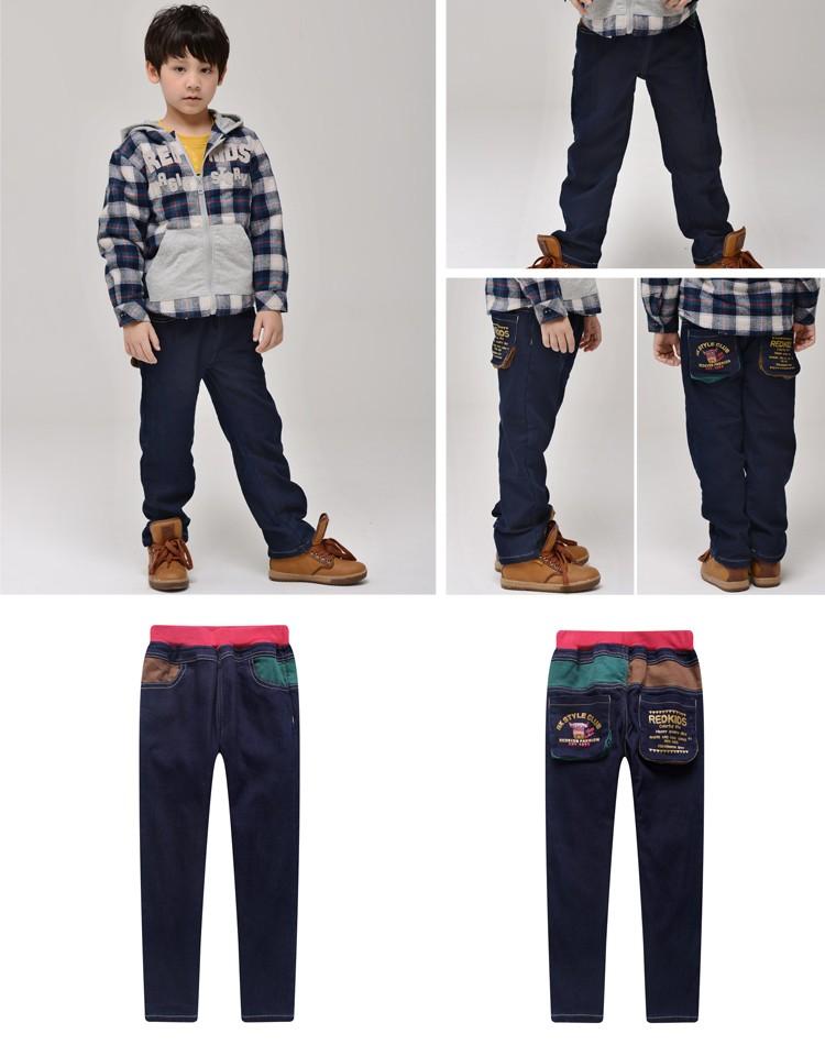 男童加绒牛仔裤