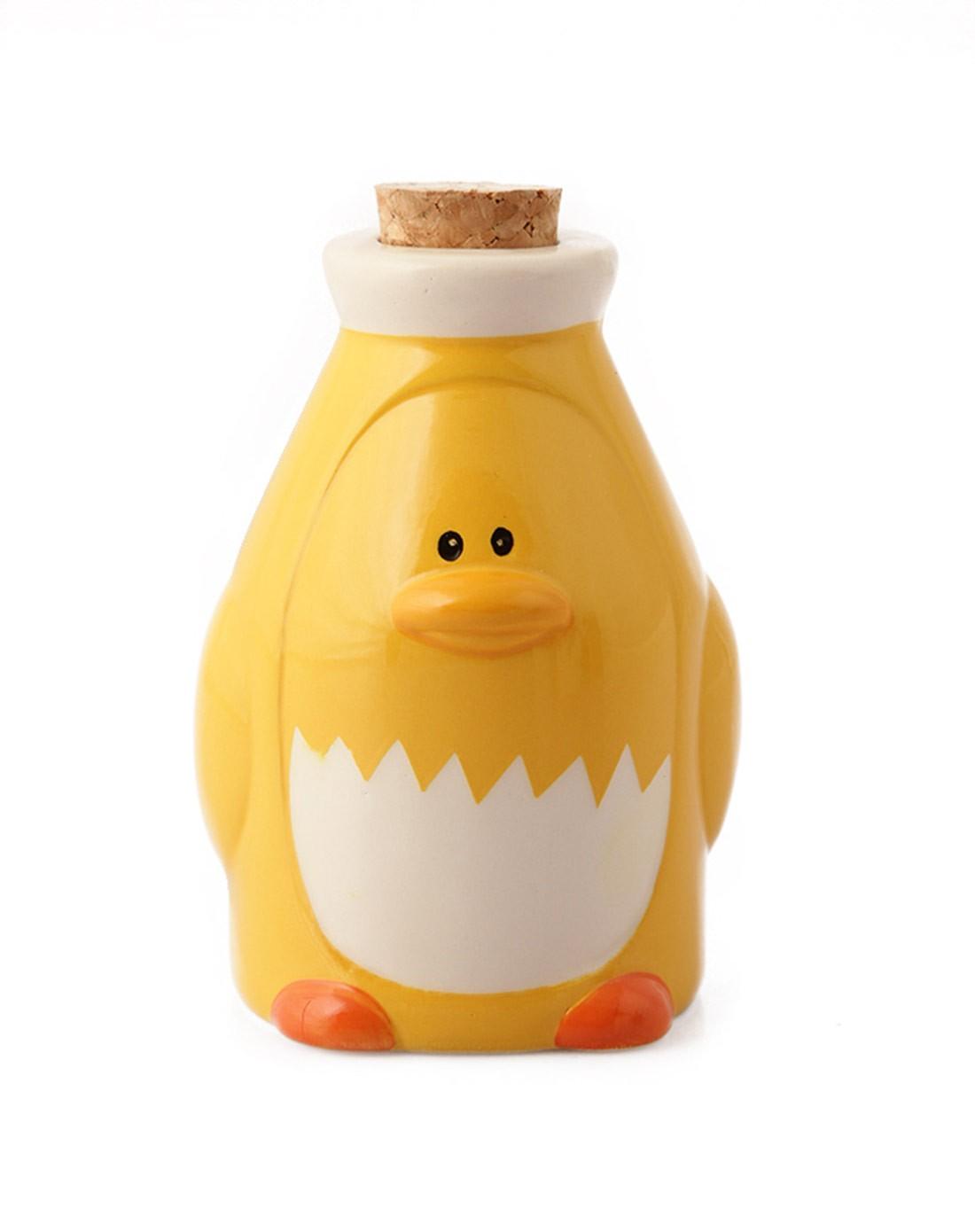 (黄企鹅)极地动物卡通厨房陶瓷调料罐