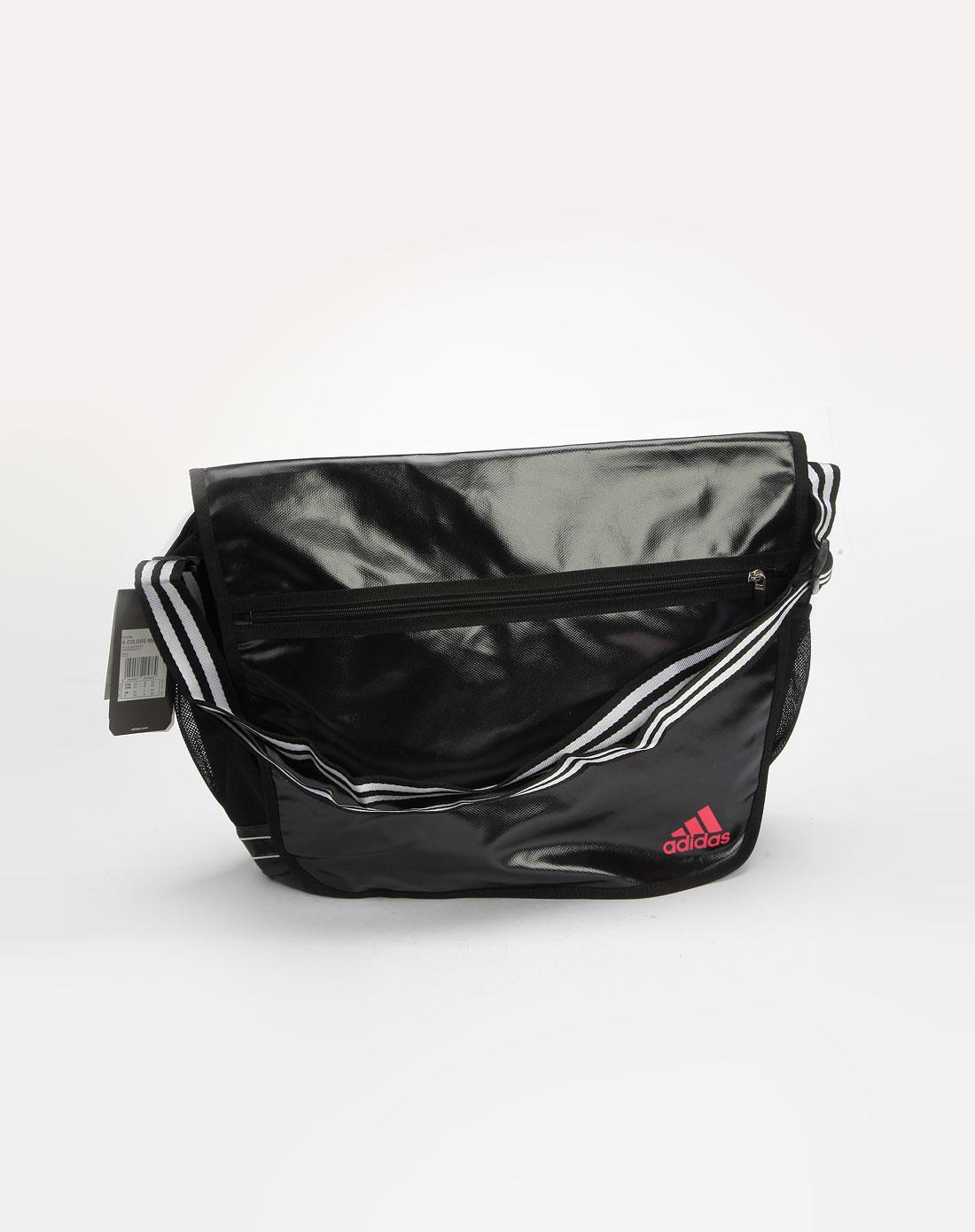 阿迪达斯adidas男款黑色斜挎包024539