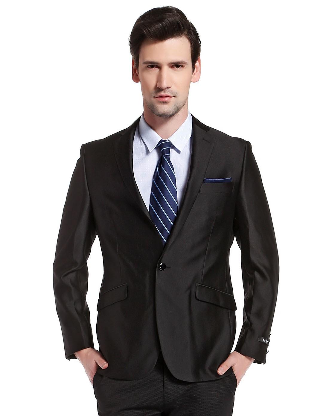 黑色商务绅士长袖西装