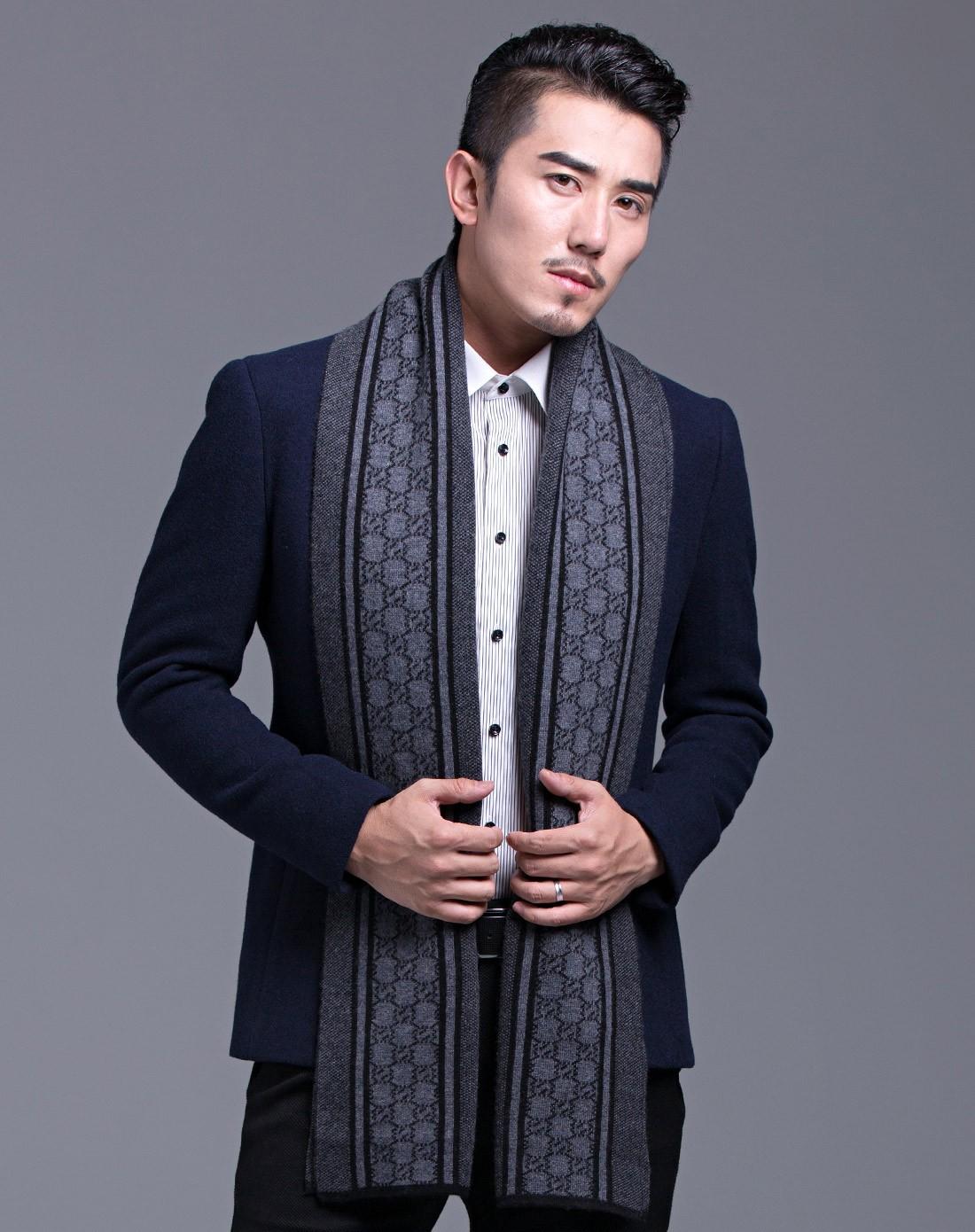 织布人围巾专场羊绒针织温文尔雅男士围巾1167060041