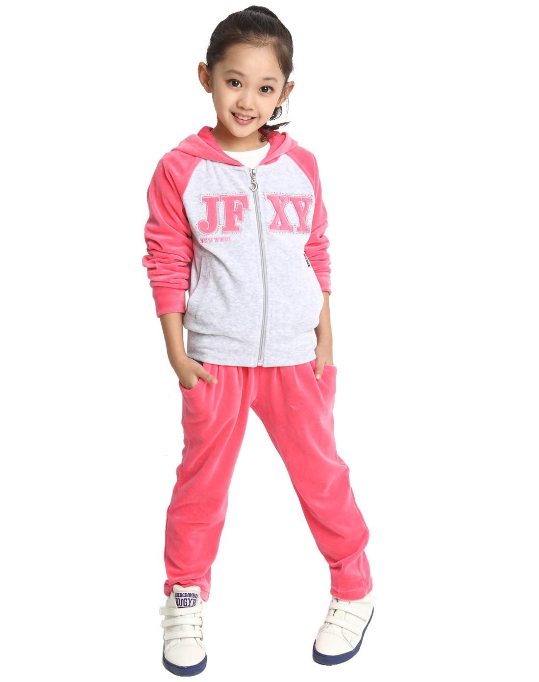 女童西瓜红色儿童运动服