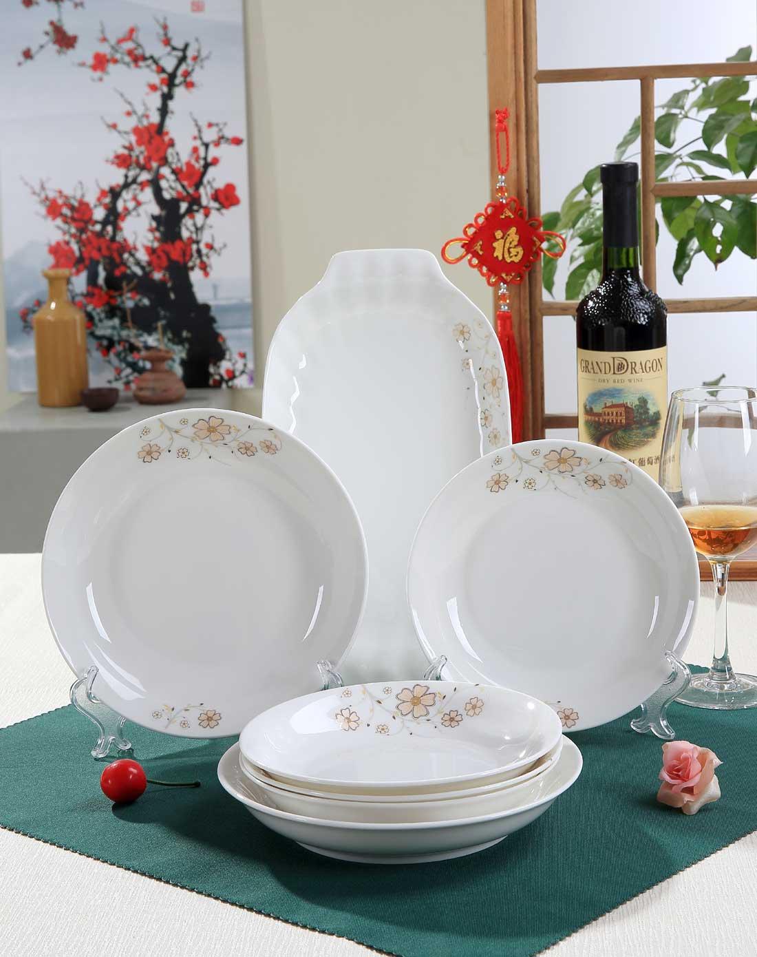 32头中式餐具-花语盈姿