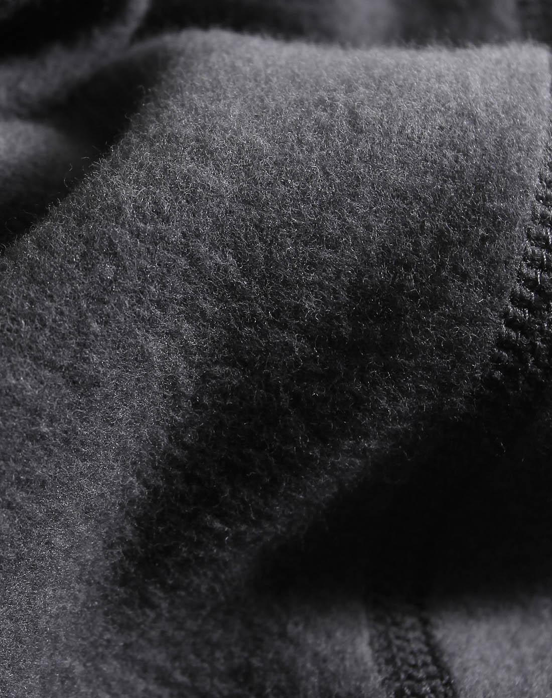男款铁灰色木代尔棉暖茸单裤