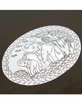 悦木之源泰国天然芒果木首饰盒双大象送芒果木手镯y