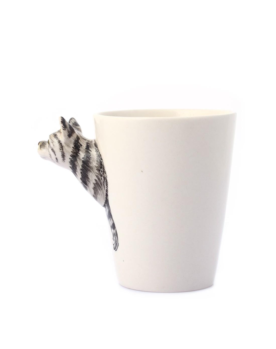 趣玩创意(经典虎斑)纯手绘陶瓷动物杯43348