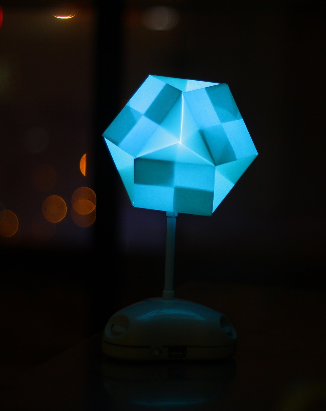 diy七彩折纸灯