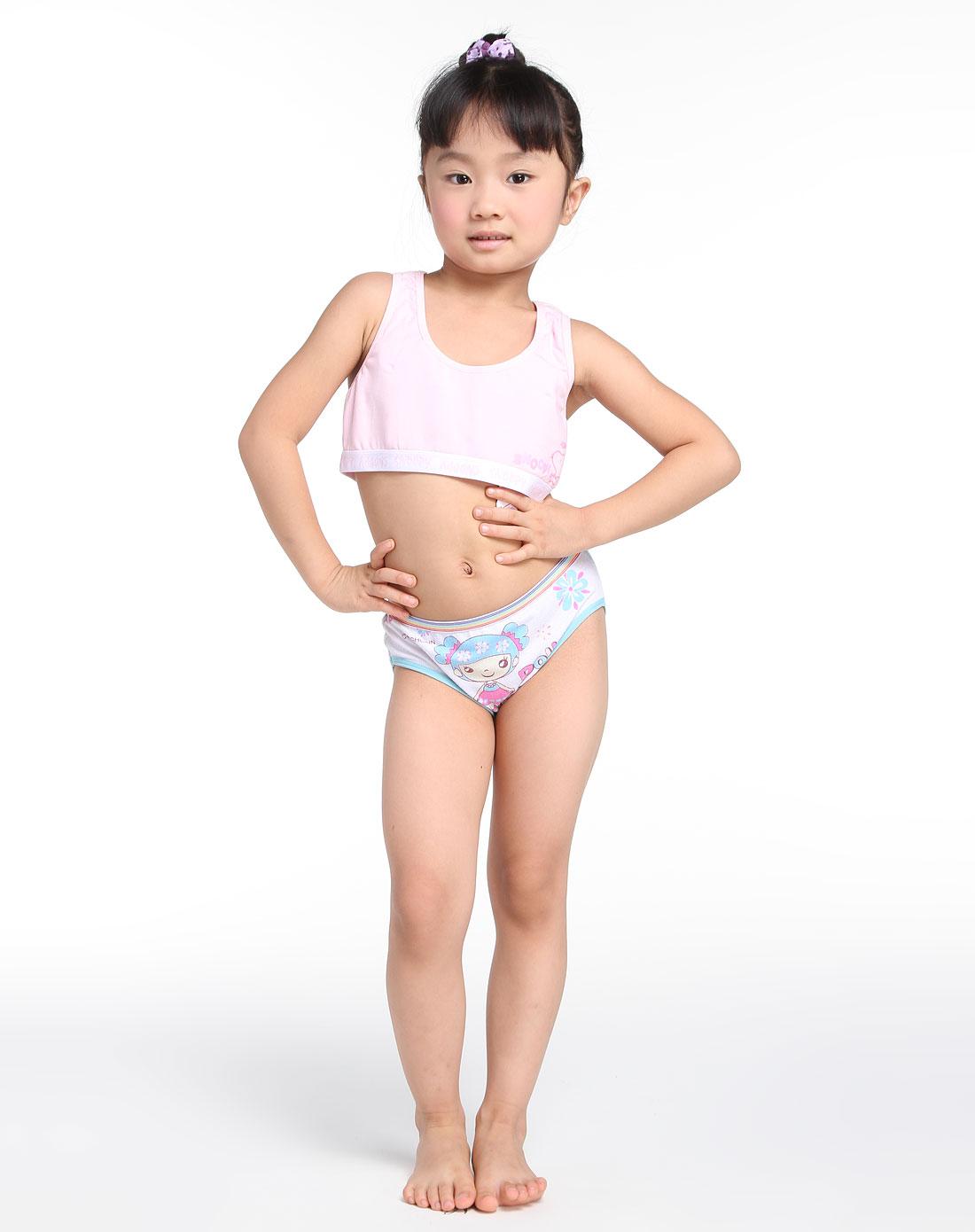 女童粉红色运动式内衣
