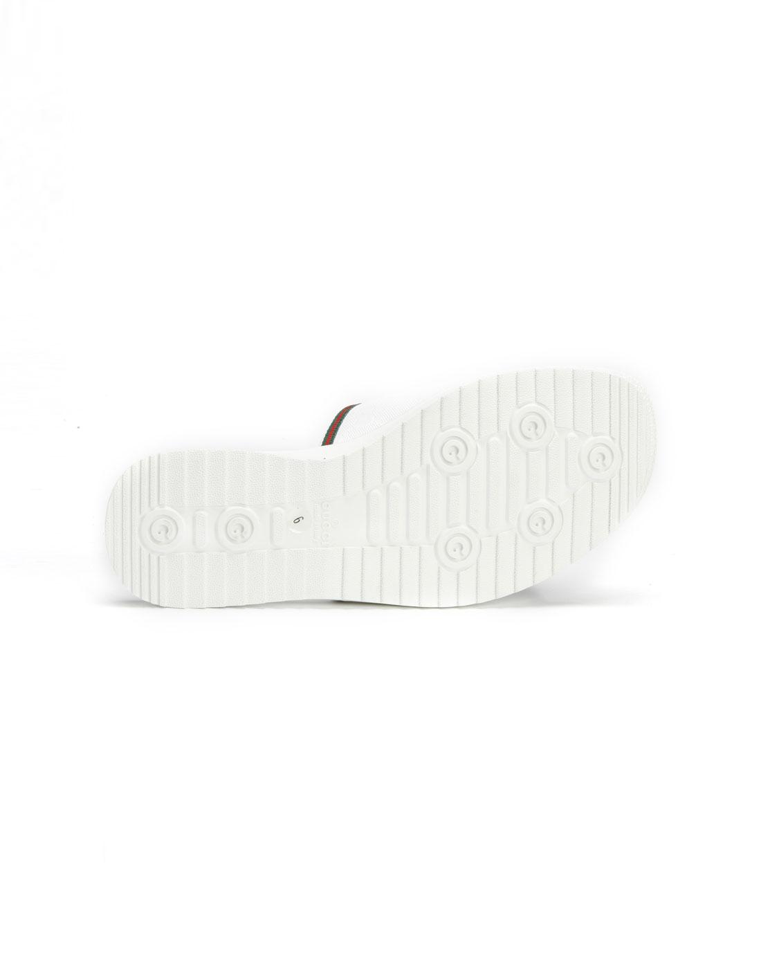 男款白色压纹休闲拖鞋236613fu4x