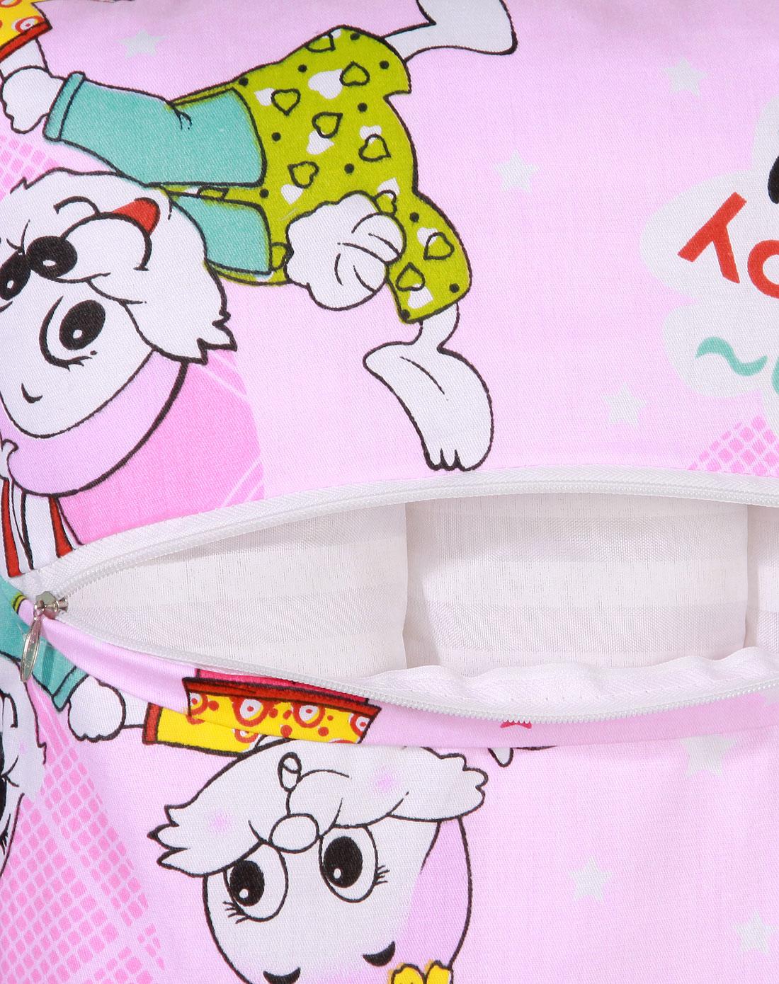 粉色可爱小兔卡通花边儿童枕50*35cm