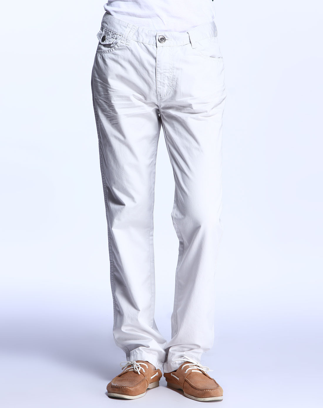 森马男装专场-灰白色休闲长裤图片